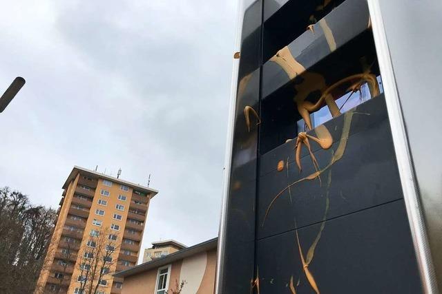 Unbekannte beschmieren Blitzer in Lörrach mit Senf