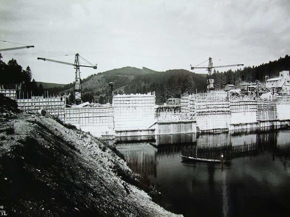 Die Baustelle der Staumauer im Jahr 1930.  | Foto: Archiv Zapf
