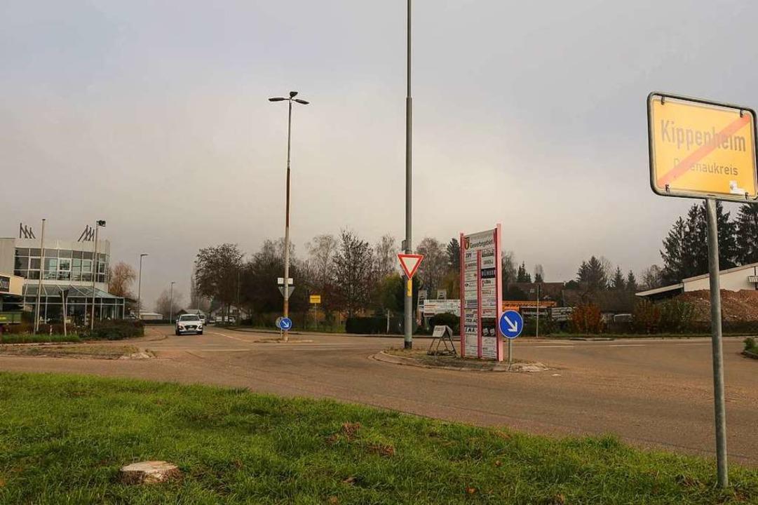 Der Verkehrsknotenpunkt K5342/Keltenst...zu einem Kreisverkehr umgebaut werden.  | Foto: Sandra Decoux-Kone
