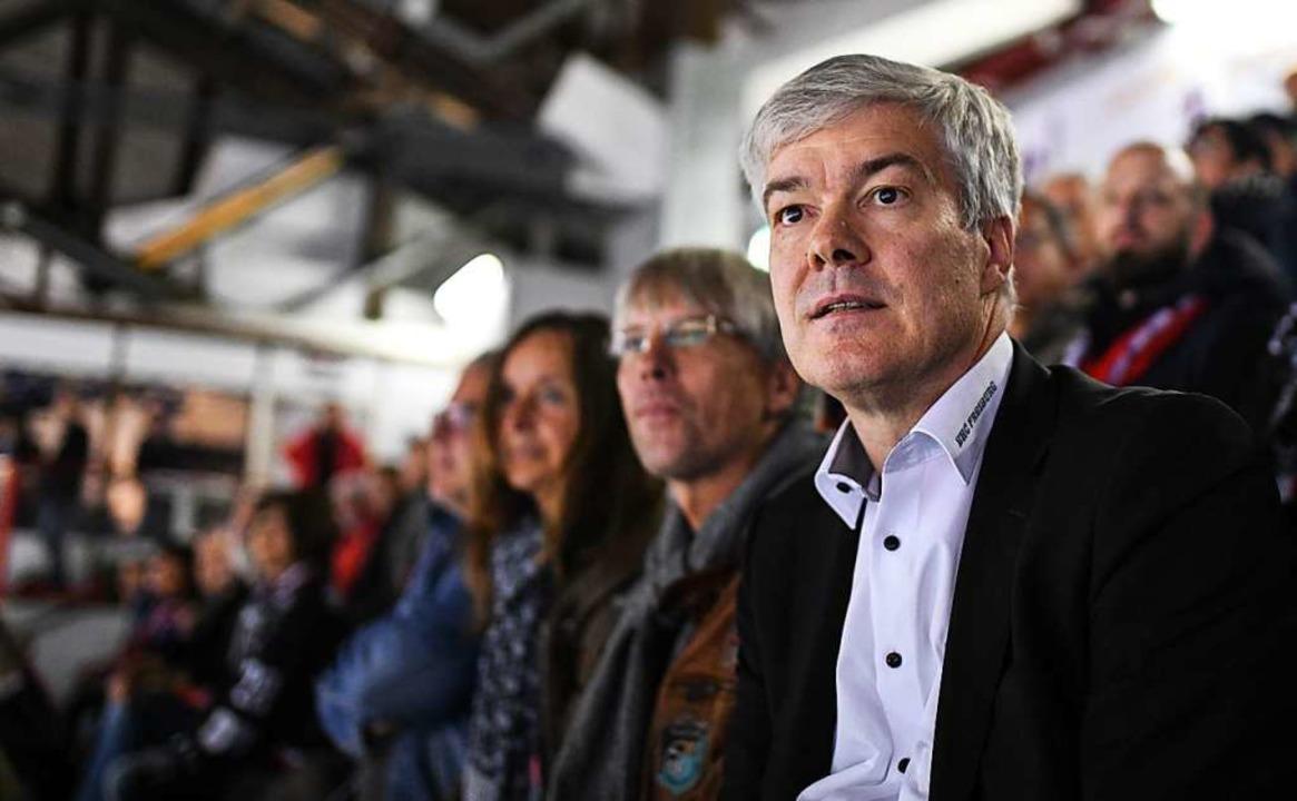 Steht hinter der Strategie der DEL-2-G...ührung: EHC-Vorsitzender Werner Karlin  | Foto: Patrick Seeger