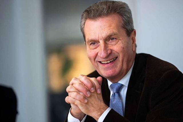 Günther Oettinger hat gut ein Dutzend neuer Jobs