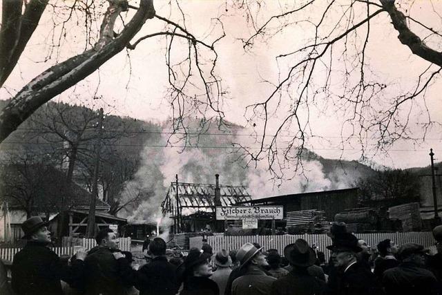 Vor 83 Jahren ging eine Freiburger Holzfirma in Flammen auf