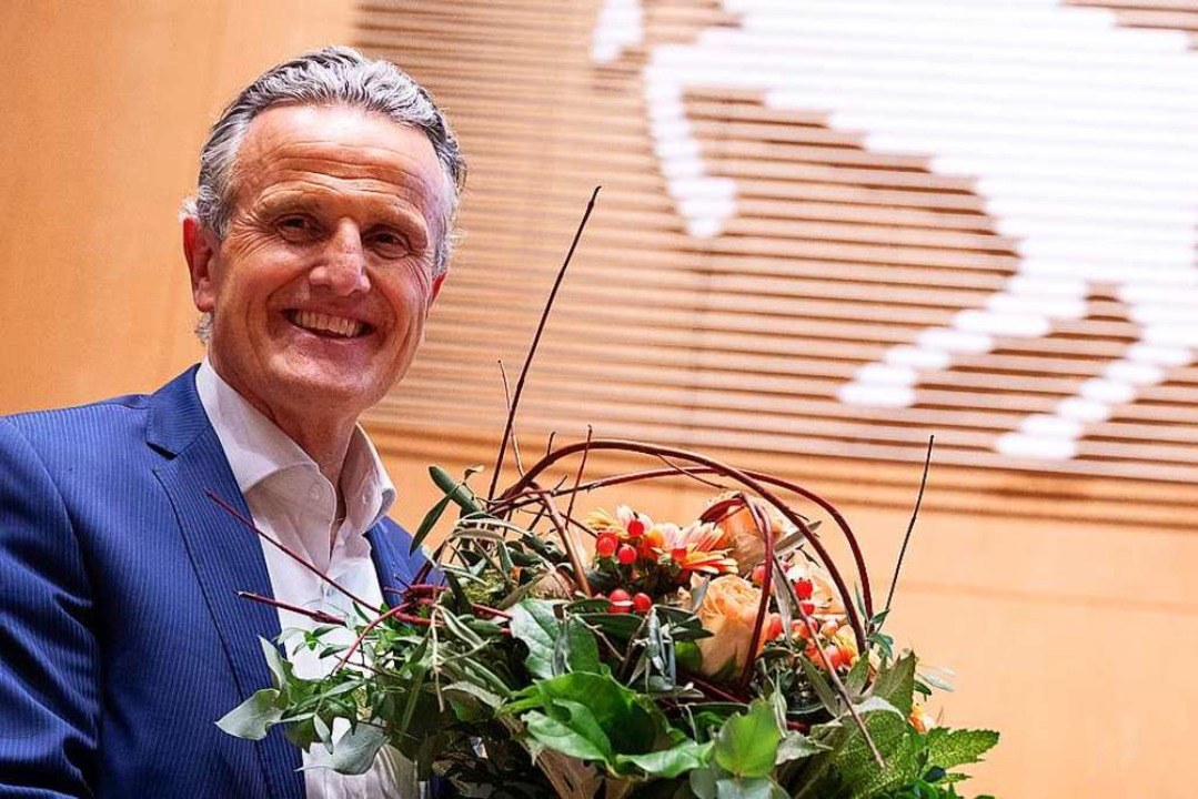 Frank Nopper wird neuer OB der Landeshauptstadt.  | Foto: Sebastian Gollnow (dpa)