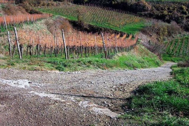 In Bischoffingen und Burkheim werden zwei marode Wege werden saniert
