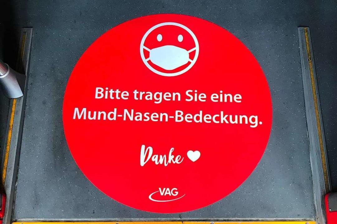 In den Straßenbahnen gilt Maskenpflich...ht jede(r) akzeptiert das. Symbolbild.  | Foto: Freiburger Verkehrs-AG