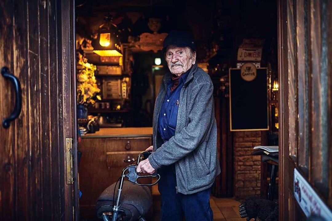 Rudi Kuhni dachte auch mit 89 Jahren noch nicht ans Aufhören.  | Foto: Felix Groteloh