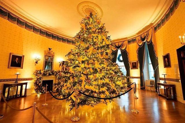 Melania Trump enthüllt Weihnachtsdekoration im Weißen Haus