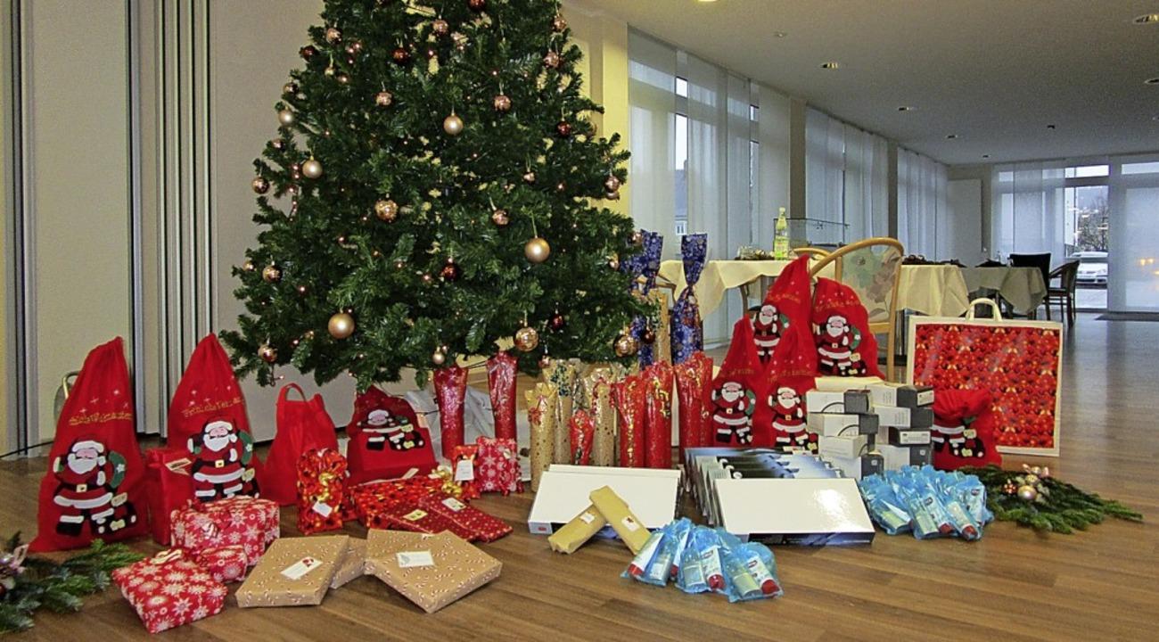Die Geschenke können persönlich abgege...ezentrum Rheingarten gesendet werden.   | Foto: Alloheim Senioren-Residenzen