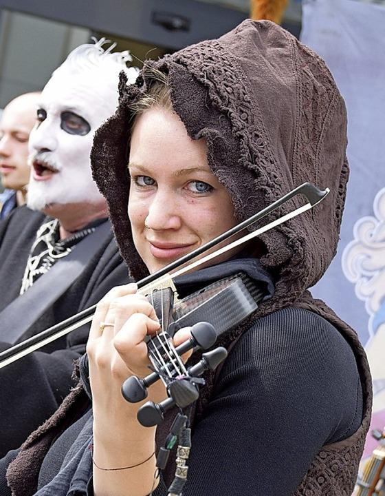 Als sie spielen durften: Skadefryd bei einem Auftritt in Bad Säckingen  | Foto: Hildegard Siebold