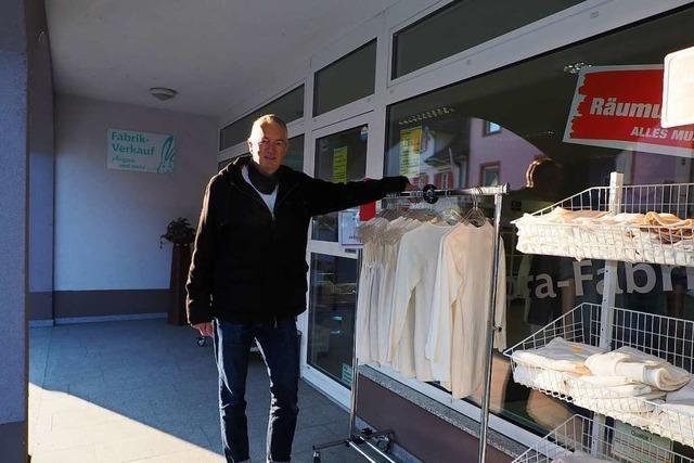 Nach 20 Jahren hört der Betreiber des Angora-Fabrikverkauf auf
