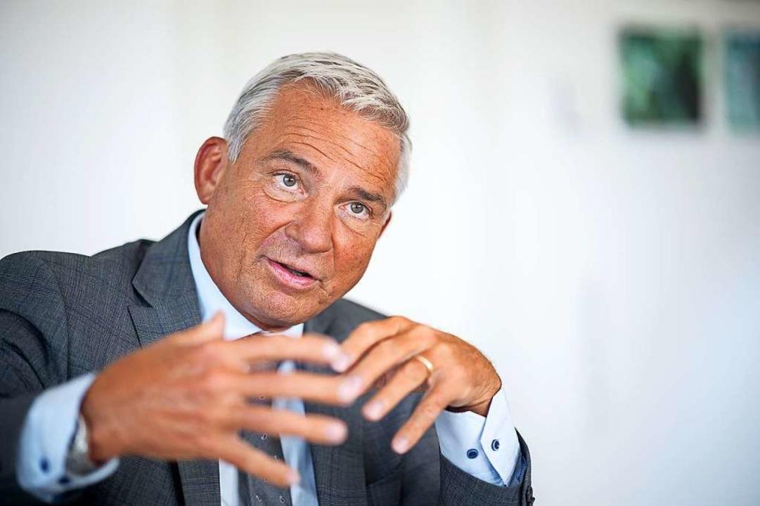 """""""Die CDU kann auch Großstadt"""" – CDU-Landeschef Thomas Strobl.    Foto: Sebastian Gollnow (dpa)"""