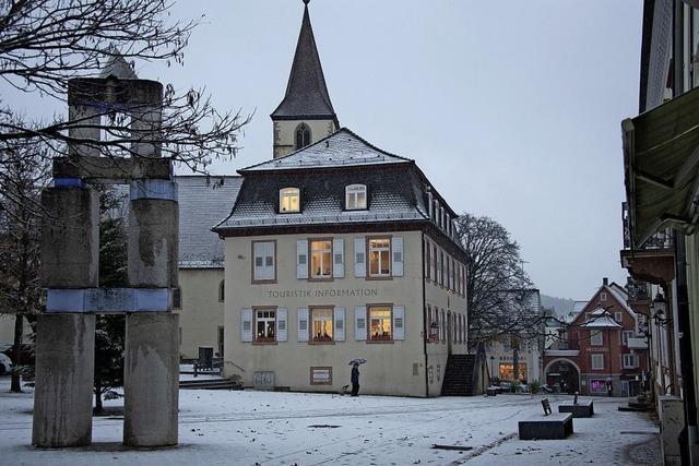 Der erste Schnee im Markgräflerland