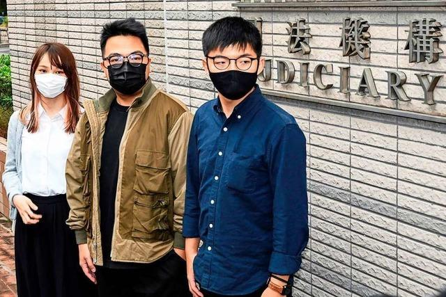Hongkonger Aktivist Joshua Wong muss mehr als ein Jahr ins Gefängnis