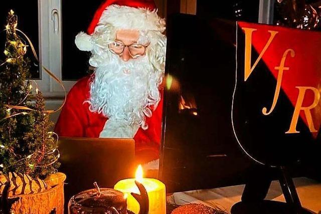 Der VfR Bad Bellingen bietet für Kinder Videotelefonate mit dem Nikolaus an