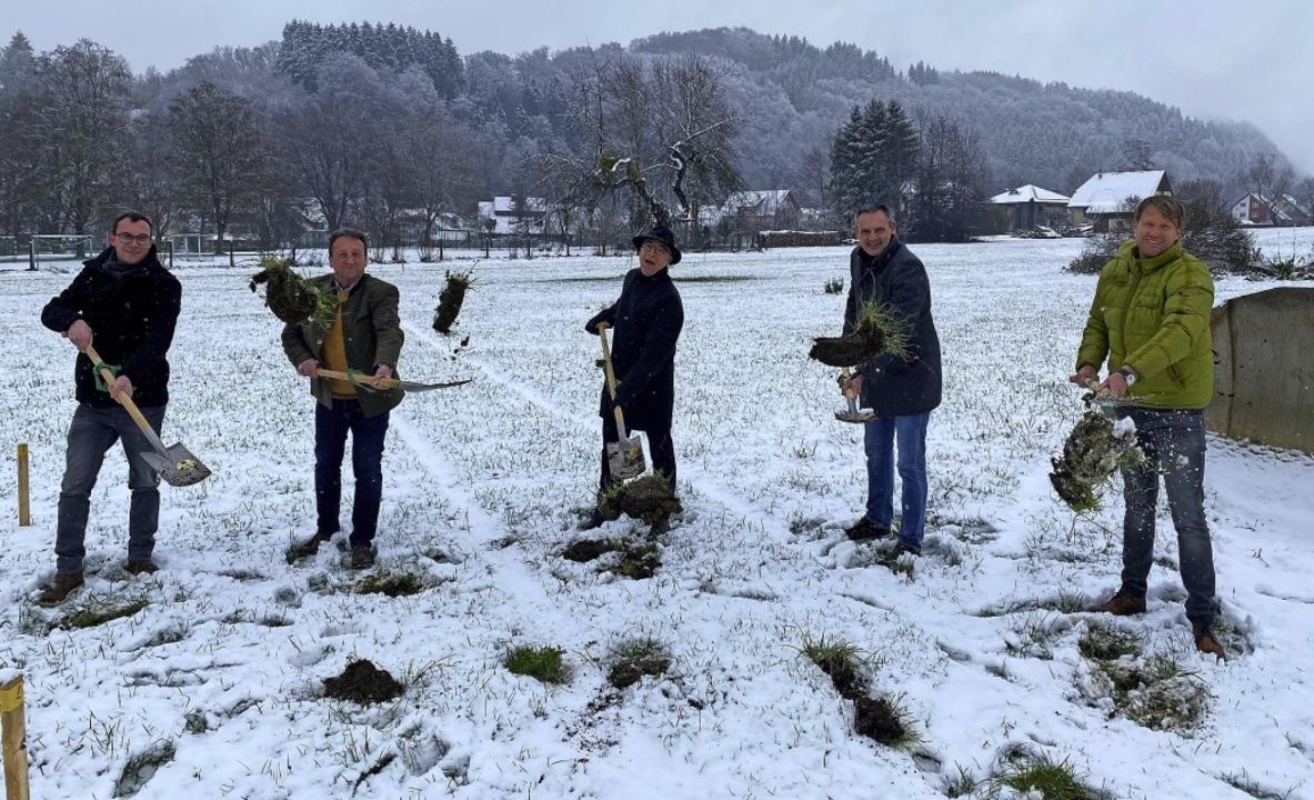 Sie freuen sich trotz Schnee auf das n... KIB, Tobias Rau, Ingenieurbüro Kirn.     Foto: Stadt Elzach