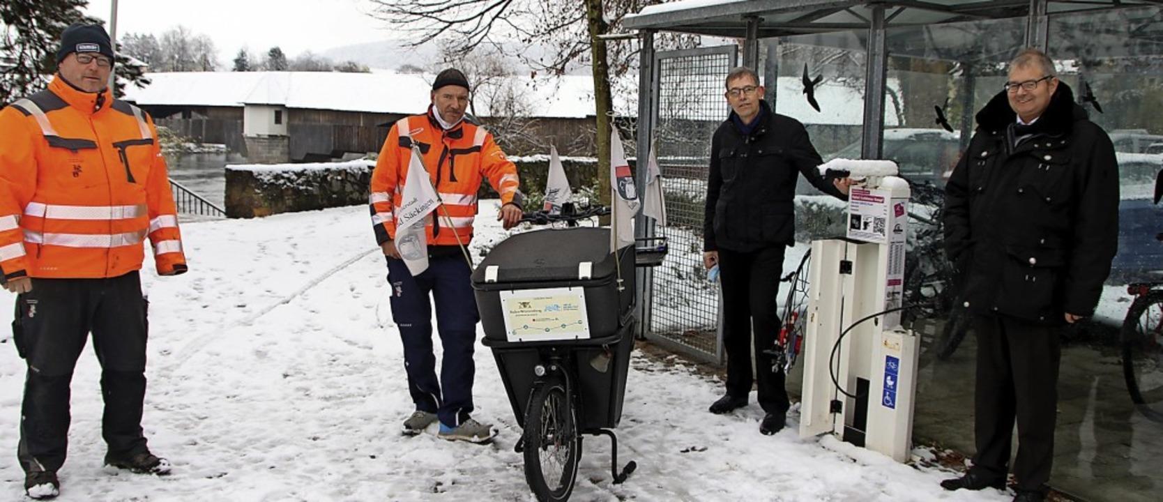 Mit dem Thema Fahrrad  ist Bad Säcking...bler und Bürgermeister Alexander Guhl.  | Foto: Susanne Eschbach