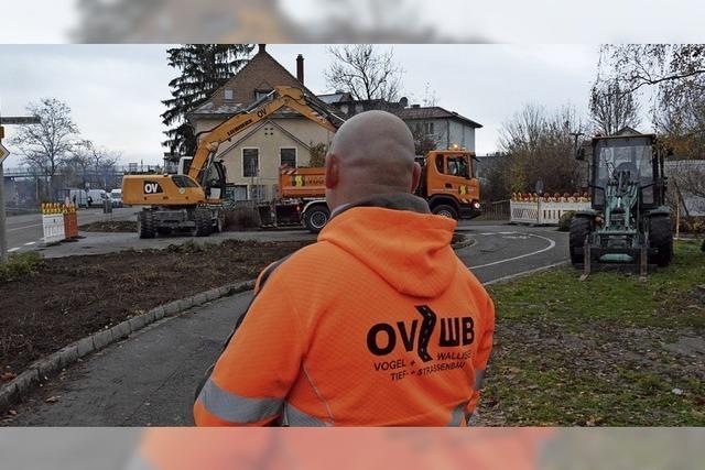 Der Radweg-Umbau hat begonnen