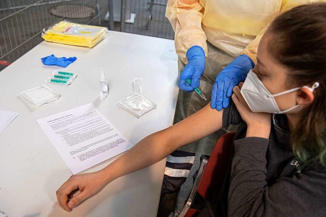 Probelauf für eine Impfung (Symbolbild)  | Foto: Stefan Puchner (dpa)