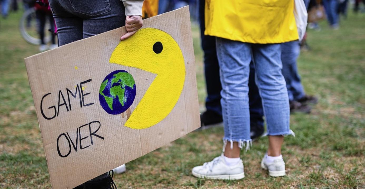 Wie hier auf einer Demonstration ist d...Thema in der Stegener Kommunalpolitik.  | Foto: Christoph Schmidt (dpa)