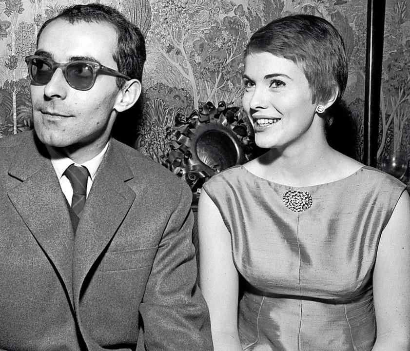 Jean-Luc Godard 1960 mit Jean Seberg, ...m Regisseur den Durchbruch bescherte.     Foto: AFP