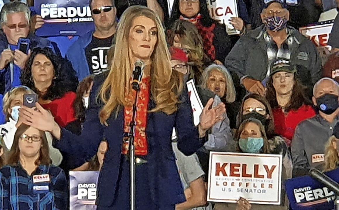 """Die republikanische Senatorin Kelly Lo...r warnt vor """"Sozialismus"""".    Foto: Frank Herrmann"""