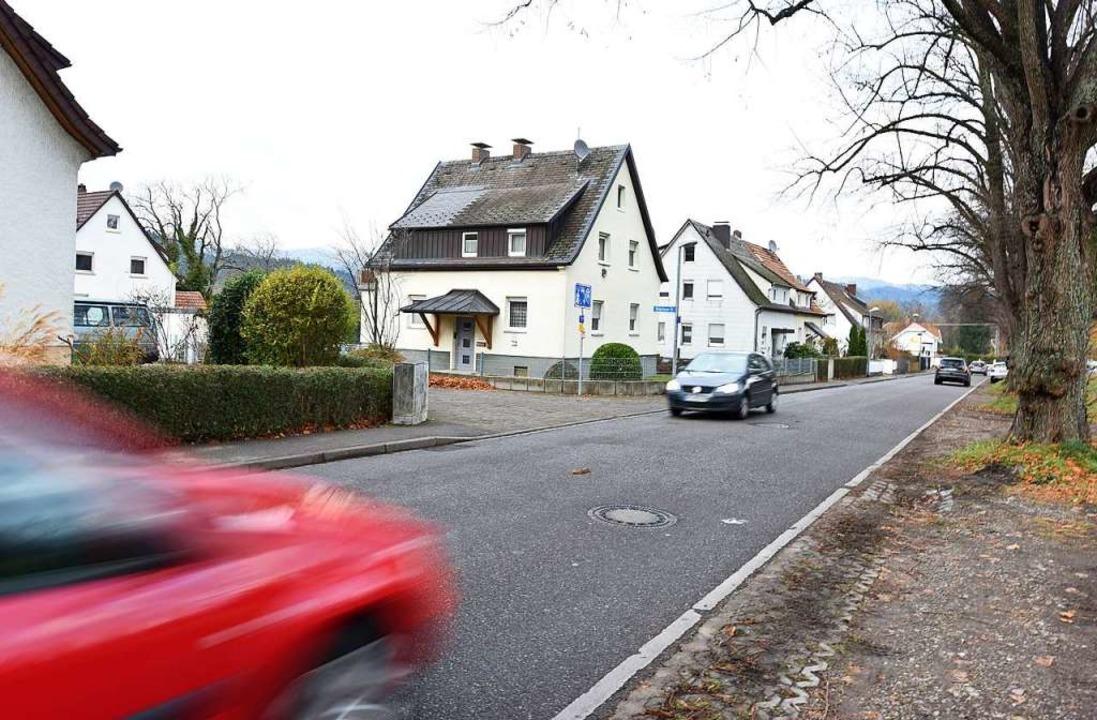 Anwohner der Königsberger Straße (Einm...piel zum Schulweg ihrer Kinder gehört.    Foto: Rita Eggstein