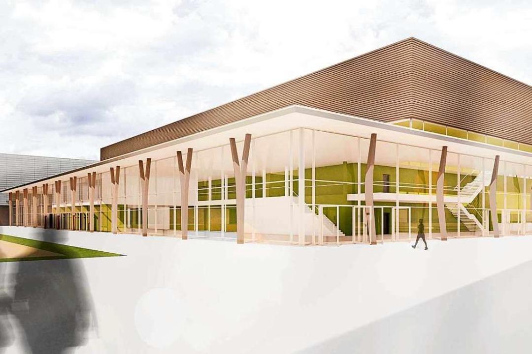 So soll die zweigeschossige Halle nach...rchitekturbüros Heide einmal aussehen.  | Foto: Büro Ferdinand Heide Architekt, Frankfurt