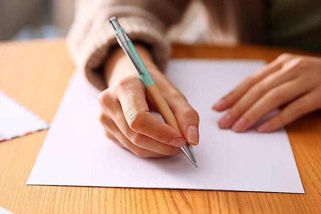 Briefeschreiben bietet eine Chance innezuhalten