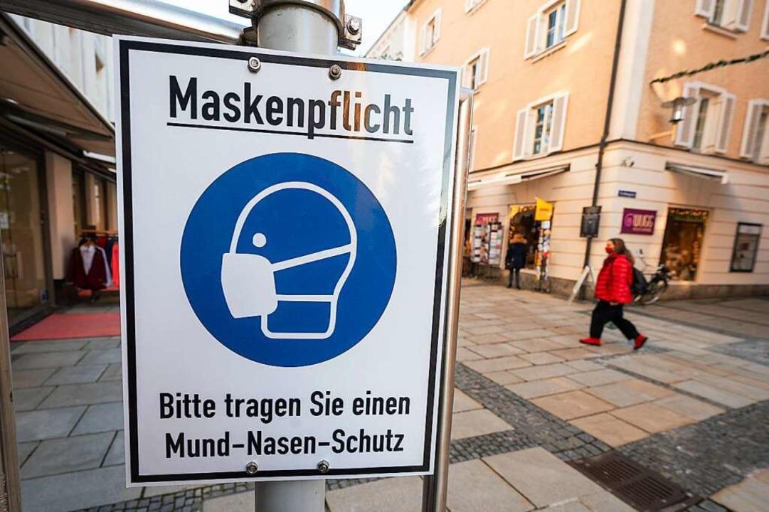 Eine Ausdehnung der Bereiche mit Maske...st eher nicht zu erwarten (Symbolbild)    Foto: Armin Weigel (dpa)