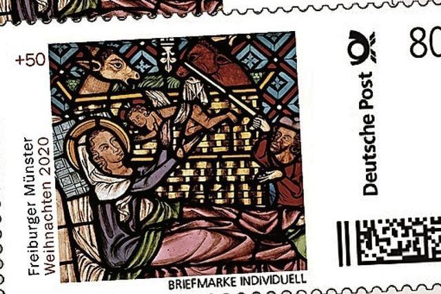 Das Schmiedefenster des Freiburger Münsters ziert die Briefmarke zu Weihnachten
