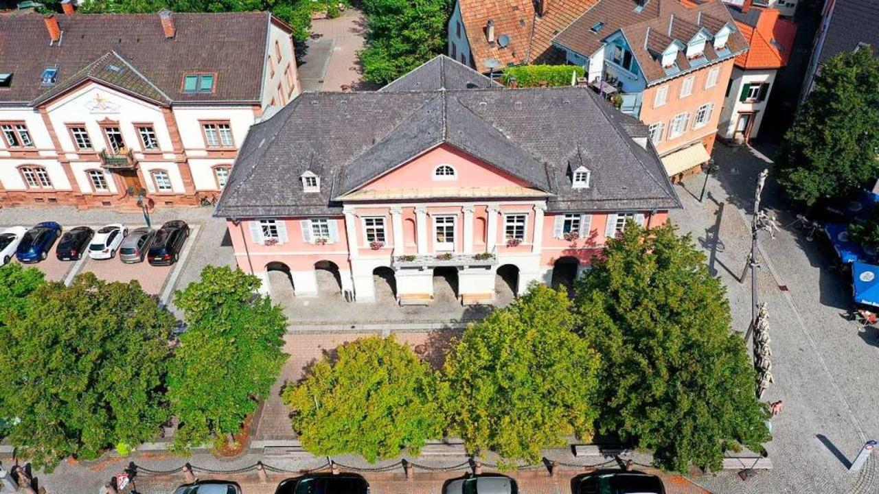 Das Rathaus aus der Vogelperspektive    Foto: Martin Klabund