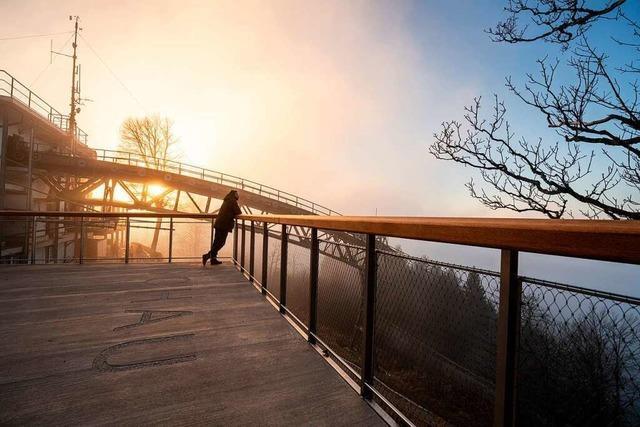 Die Panoramaterrasse auf dem Schauinsland ist fertig