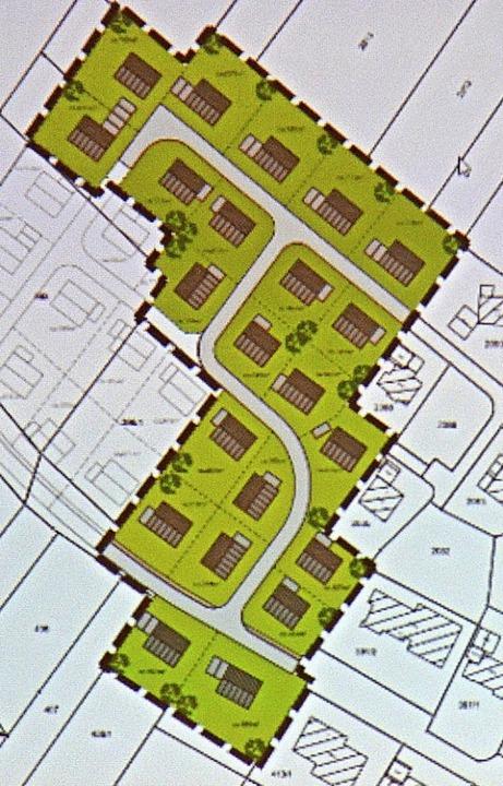 20 neue Bauplätze will die Gemeinde Häusern im Baugebiet Abendweide 2 schaffen.  | Foto: Christiane Sahli
