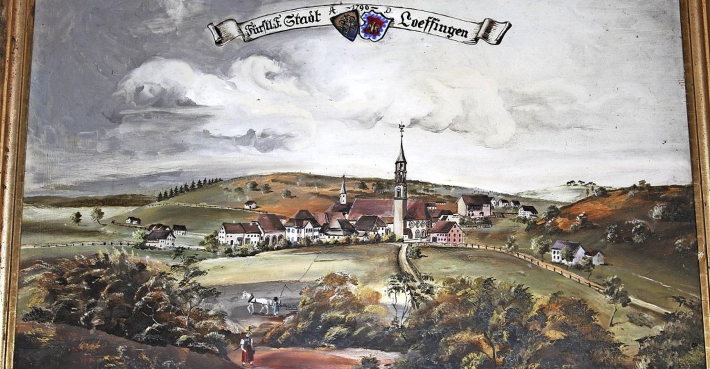 1261 besaß Löffingen Stadtrecht. Der S...riedrich Ehret zeigt den Ort um 1790.     Foto: Christa Maier