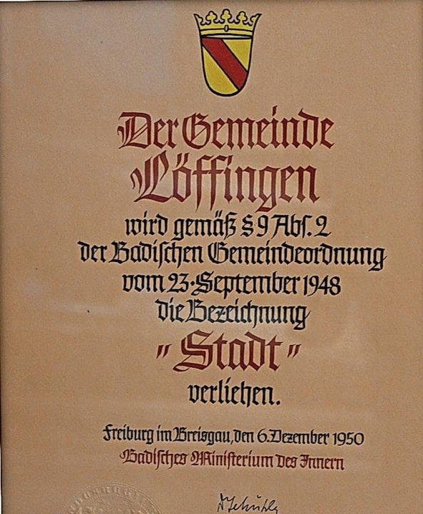 Am Nikolaustag vor 70 Jahren erhielt Löffingen wieder die Bezeichnung Stadt.    Foto: Christa Maier