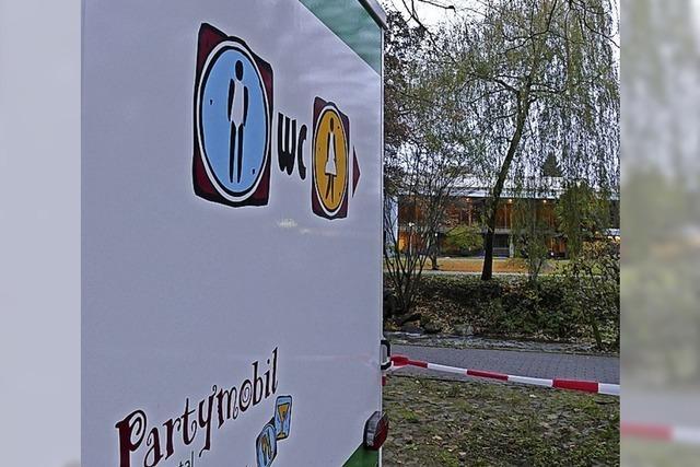 Toilettenwagen im Kurpark