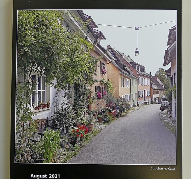 Das August-Bild  zeigt Elke Ross' Bild der  St. Johannes-Gasse.    Foto: Frank Schoch
