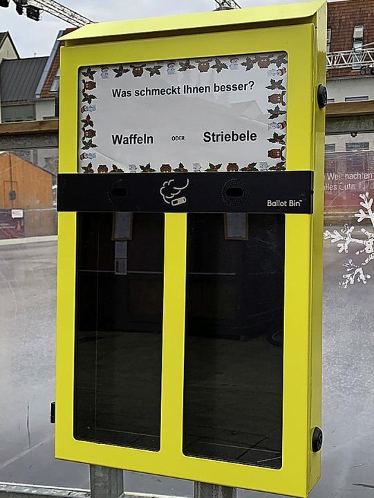 """Solche """"Wahl-Ascher"""" wie in Offenburg könnte es auch in Lahr geben.    Foto: Helmut Seller"""
