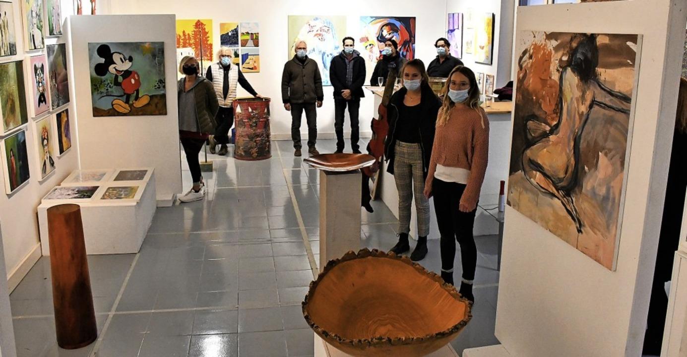 """""""Rückblick"""" heißt die neue...tellung in der Galerie Kunst-unter-uns    Foto: Barbara Ruda"""