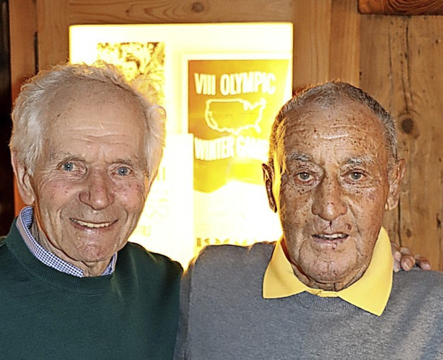 Freunde: Georg Thoma (links) und Siegfried Hug  | Foto: Dieter Maurer