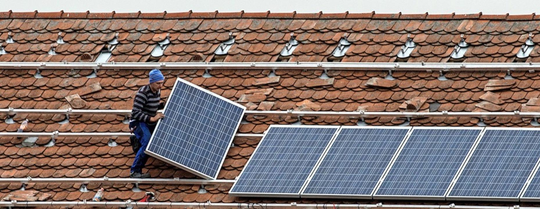 Mit einer Klimaschutzagentur im Landkr...von Photovoltaikanlagen erhöht werden.    Foto: Armin Weigel
