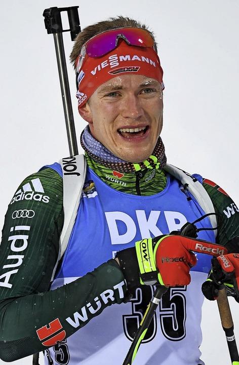 Benedikt Doll ist beim Skaten  auf ein...7. Laufzeit beim Sprint in Kontiolahti    Foto: Sven Hoppe