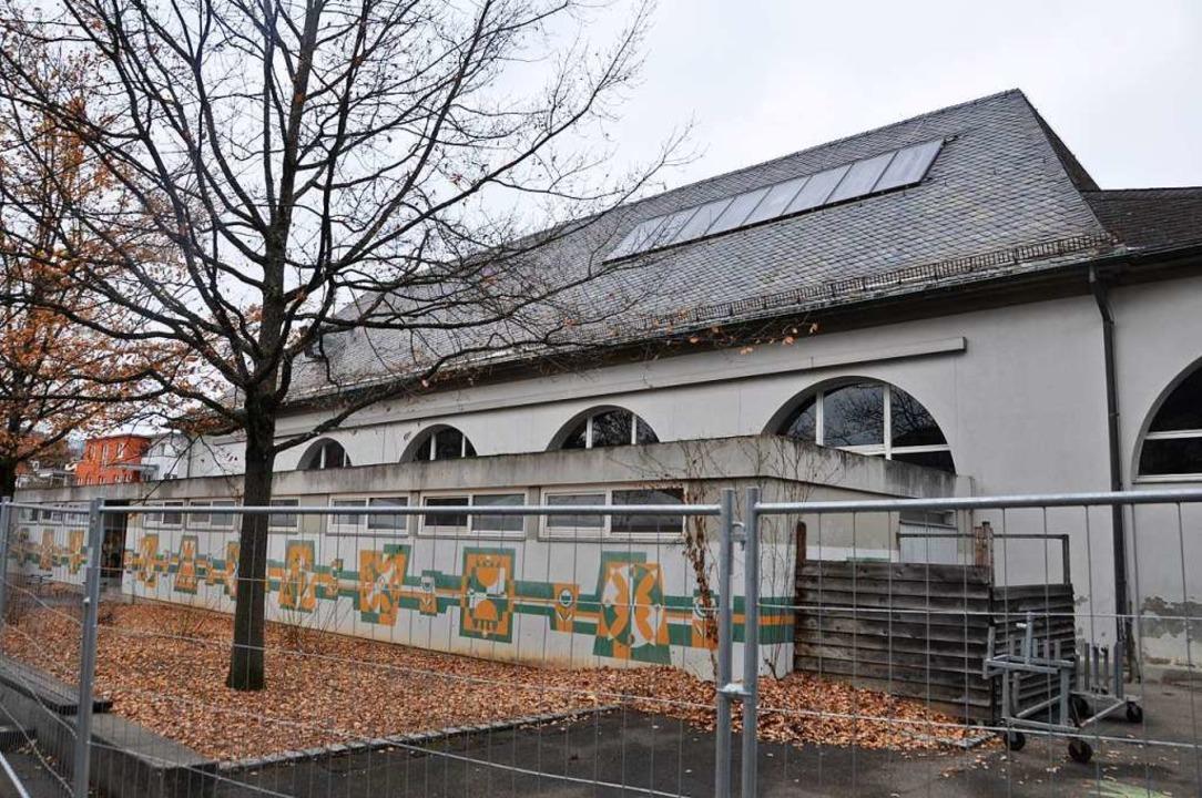 Die Halle der Fridolinschule ist abbru... entsteht an dieser Stelle ein Neubau.    Foto: Daniel Gramespacher