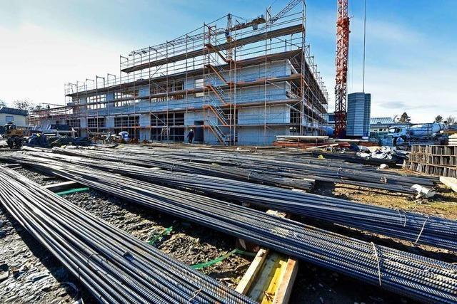 Die ersten Teile der neuen Staudinger Gesamtschule in Freiburg-Haslach stehen bereits