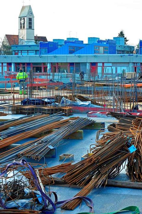 Baustellenbesichtigung bei der Staudinger Gesamtschule  | Foto: Michael Bamberger