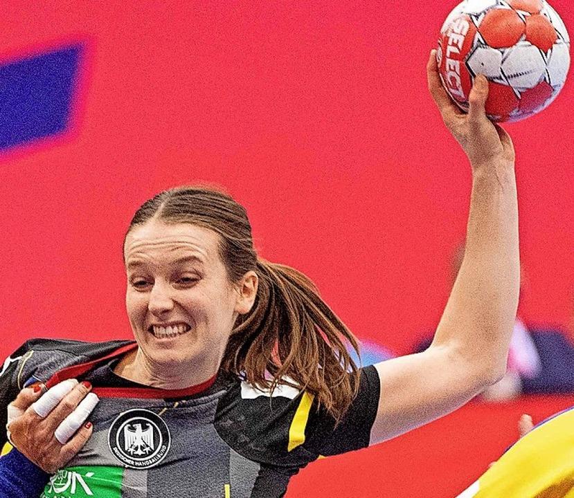 Vierfach-Torschützin Julia Maidhof  | Foto: BO AMSTRUP (AFP)