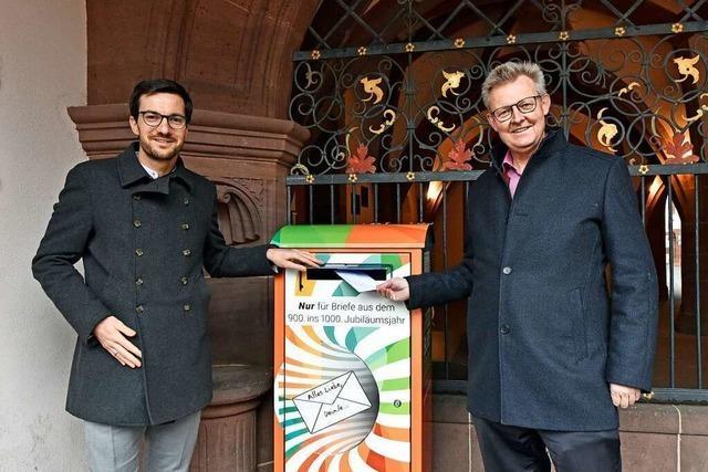 Bürger können zum Stadtjubiläum Briefe ans Freiburg des Jahres 2120 senden