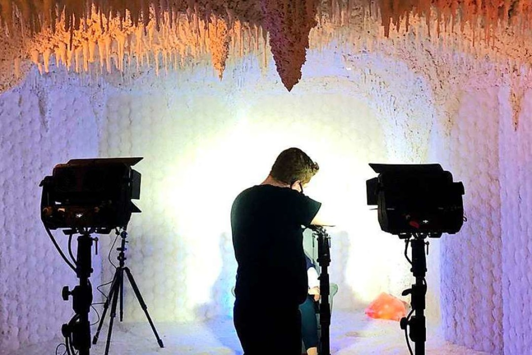 Für die Videos der Markgräfler Märchen...Salzgrotte der Balinea-Therme gefilmt.    Foto: Veranstalter