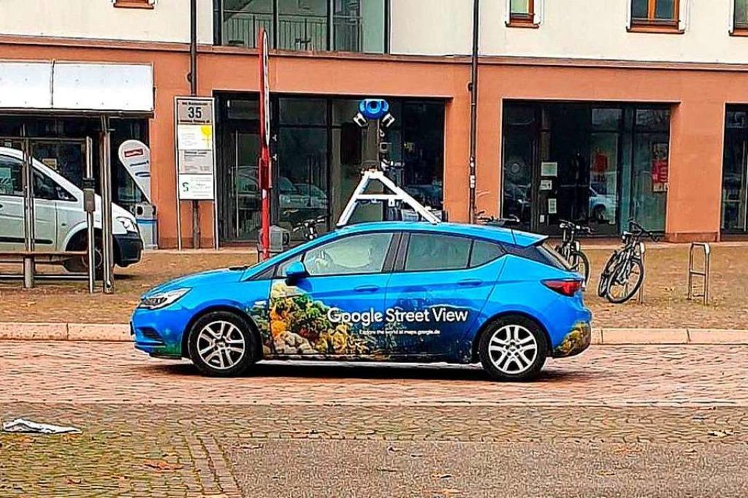 Ein Kamerauto von Google, jüngst in Gundelfingen gesichtet  | Foto: Stefan Heimburger