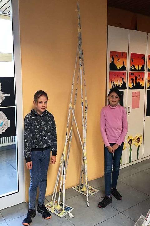 Turm von und mit Matilda Vetter (l.)  und Sofia Klein  | Foto: Privat